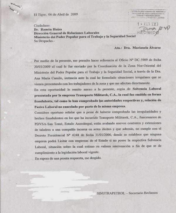 Documento donde se afirma que la solvencia de MILITAREK es falsa.