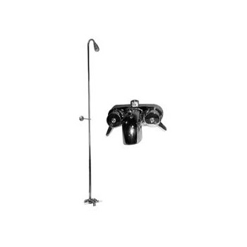 77 195 converto shower riser and clawfoot tub faucet
