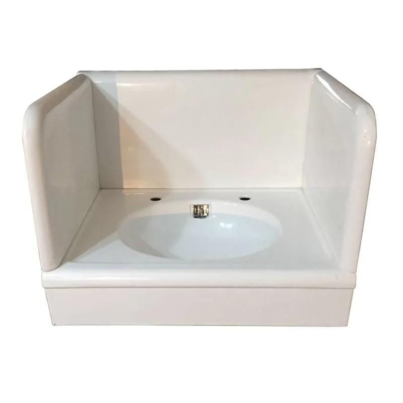 antique circa 1928 standard cast iron alcove lavatory sink