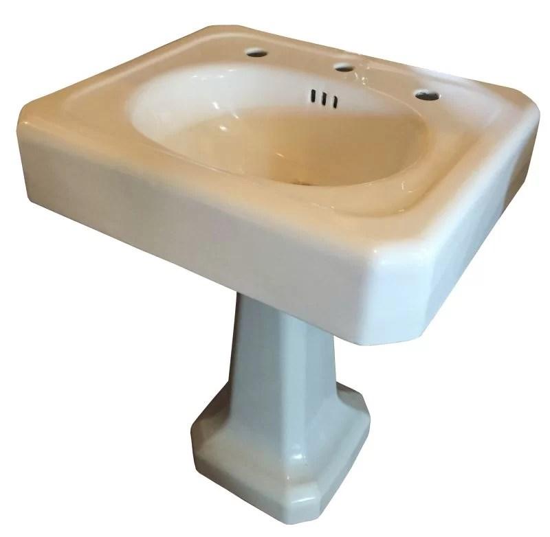 1930 s vintage standard cast iron pedestal sink