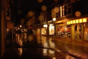 Dark Rainy Street Noir