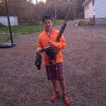 Hunters orange and shorts, Devin's partridge