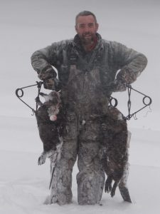 Snowy day of trapping