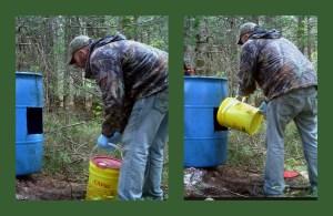 Mike baiting the Bear Baits