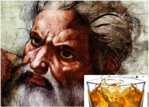 Whisky God was made in MS Paint on His advice.