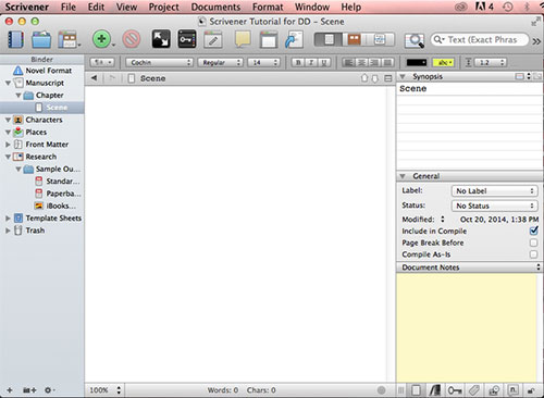 The dreaded blank page.
