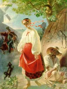 Painting of a Ukrainian Serf, by Taras Shevchenko