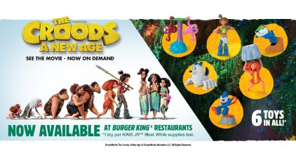 The Croods 2 Burger King campaign