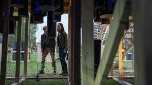 Lucas Till and Levy Tran in 'MacGyver'