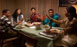 eremy Pope, Mj Rodriguez, Angel Bismark Curiel, Dyllon Burnside, and Dominique Jackson in 'Pose'