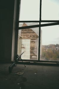 Sniper Rifle in Window