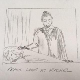 Frank looks at Rachel in Coffin
