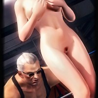 It seems that Kasumi doesn't like the idea of being fucked in the middle of the ring... but it's too late - she is already nude!
