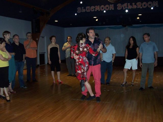 Tango workshop at the Blue Moon Ballrom.