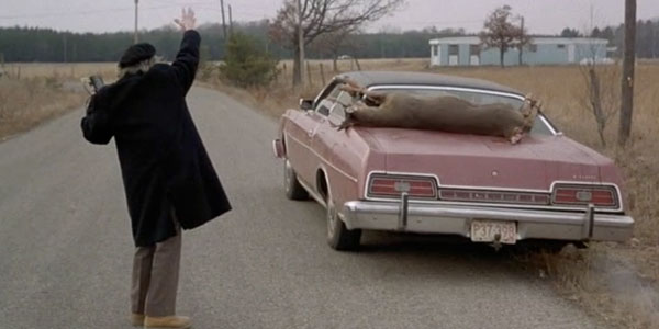 See the deer strapped to the back of that car? Just by being in this film, it's ten times as pretentious as you'll ever be.