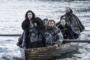 Jon leads Tormund and some Night's Watch brothers to Hardhome