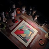 Spray paint on fabriano watercolour paper