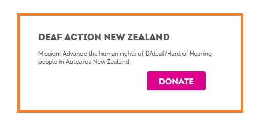 Givealittle Donation Deaf Action NZ