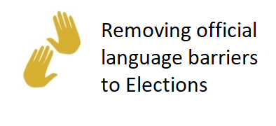 Removing official language barriers to Elections