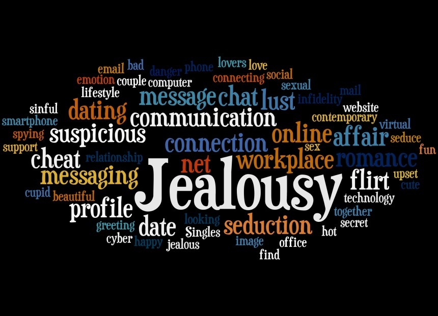 Jealousy, word cloud concept 5