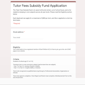 Thumbnail of Tutor Fees Subsidy Application Form