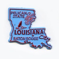 Louisiana State Outline Magnet