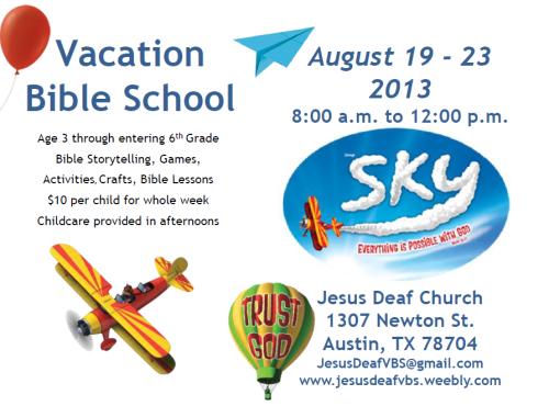 Vacation Bible School 2013 at Jesus Deaf Church - Austin