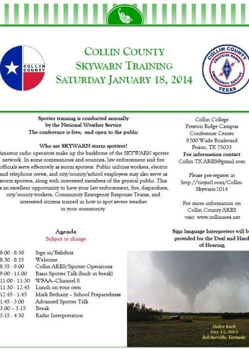 2014 skywarn w schedule
