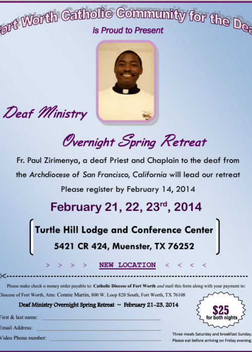 Catholic Spring Retreat 2014 Flyer