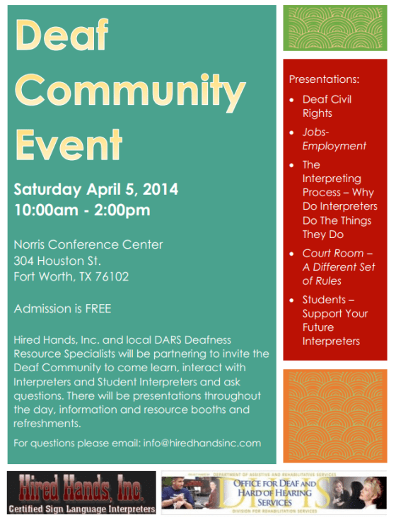 deaf community event fort worth