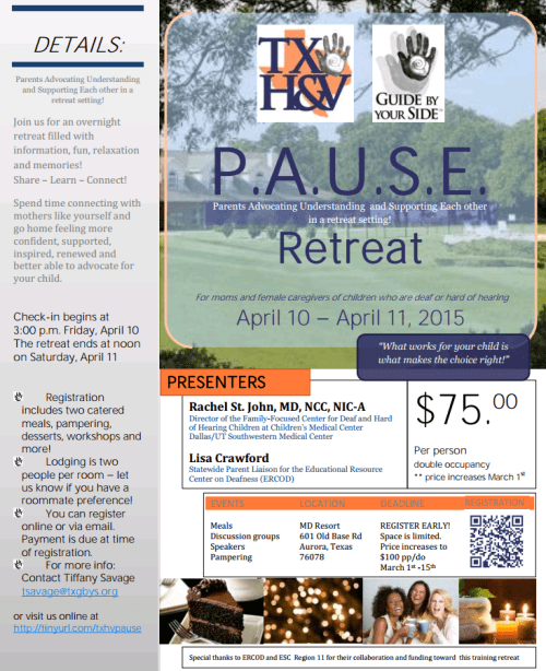 PAUSE Retreat 2015