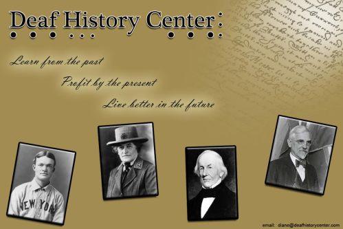 deaf history flyer