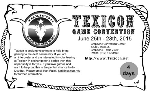 Texicon Deaf Community Flier 2015