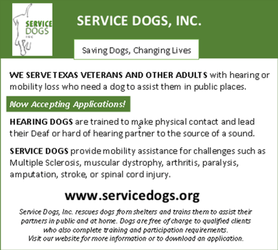 Service Dogs Inc Hearing Dog Training Deaf Network Of Texas