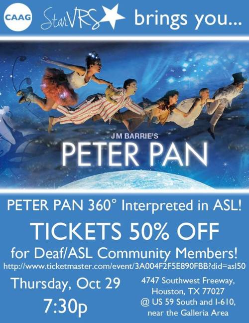 Peter Pan ASL 2015 flyer Houston