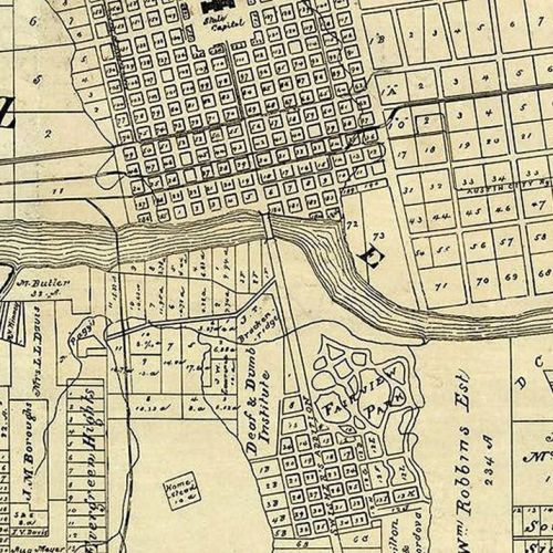 1891 old map of austin