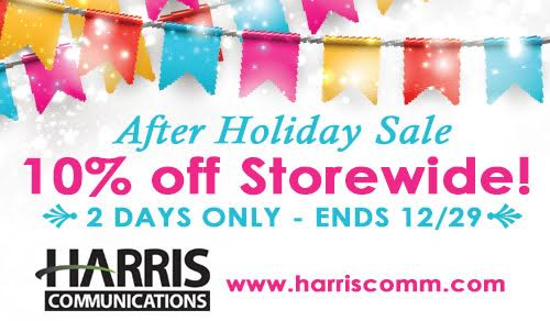 harris communications after holiday sale ad
