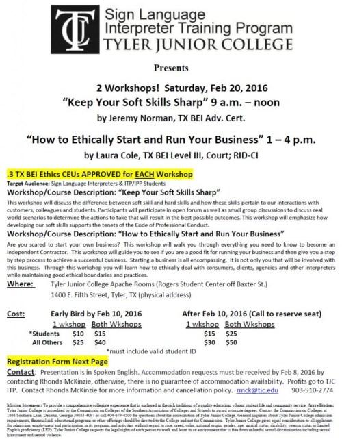 Feb 20 2016 TJC ITP WkShop Flier Reg Form