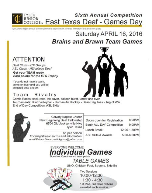East Texas Deaf Game Day 2016