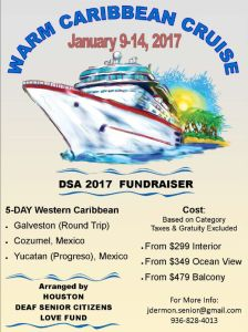 Houston Deaf Senior Citizens Love Fund 5 DAY CARIBBEAN JAN 2017