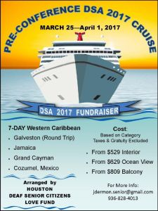Houston Deaf Senior Citizens Love Fund 7 DAY CARIBBEAN MARCH 2017