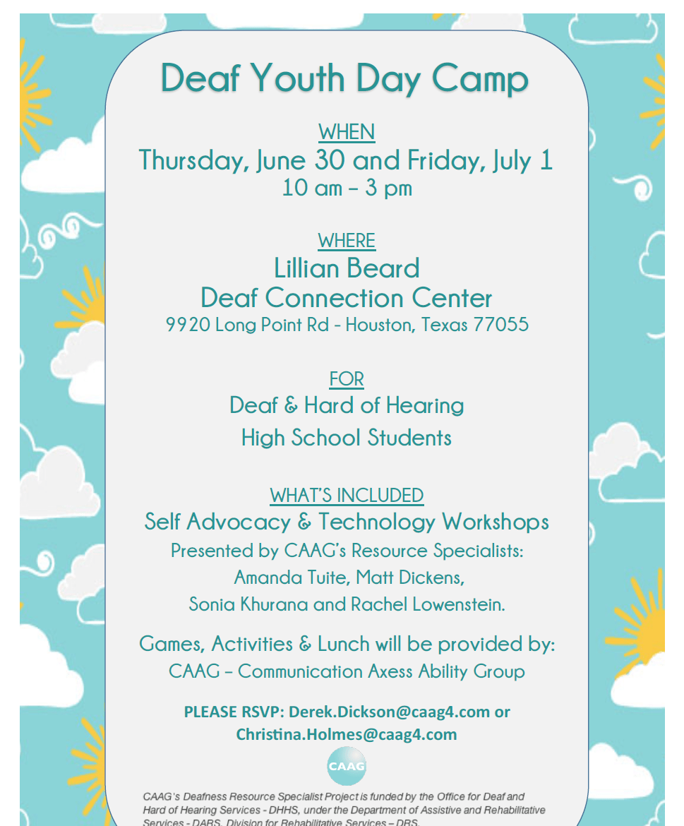 Connect For Lunch Networking Group Littleton: Deaf Youth Day Camp 2016