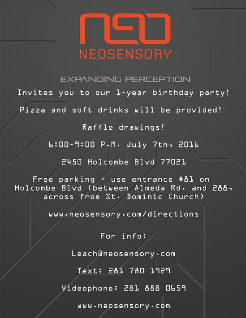 neosensory july 7th flyer