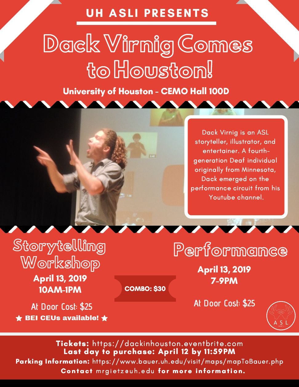Dack Virnig Comes to Houston! – Deaf Network of Texas