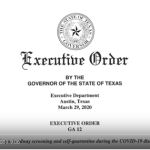 Governor Abbott's Executive Order #12