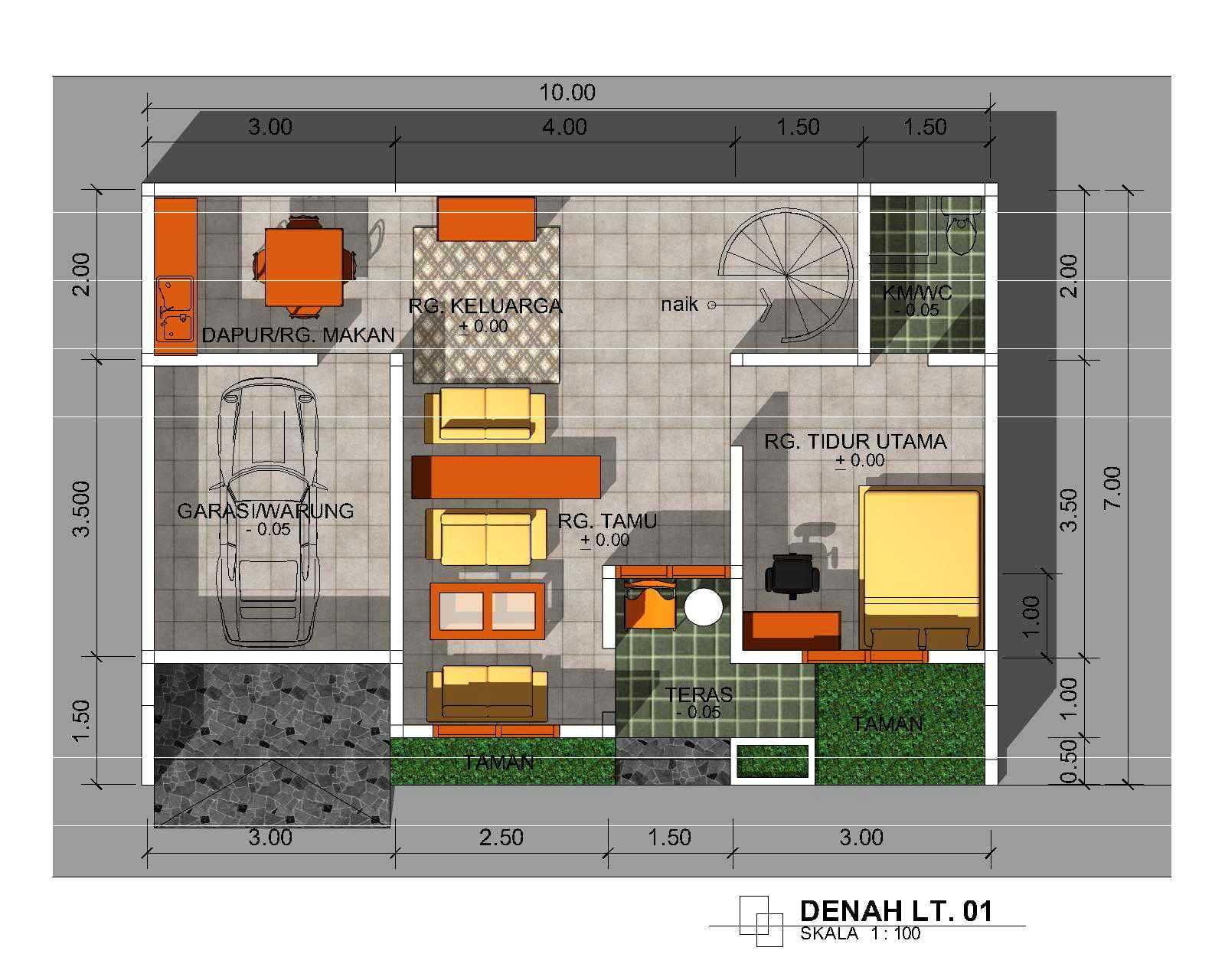 48 Gambar Desain Rumah Minimalis 2 Lantai 3 Kamar Tidur