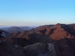 Sunrise over Sinai Peninsula