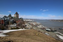 Quebec City from the fortress above