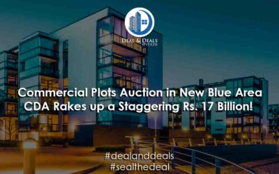 Commercial Plots Auction in New Blue Area – CDA Rakes up a Staggering Rs. 17 Billion!