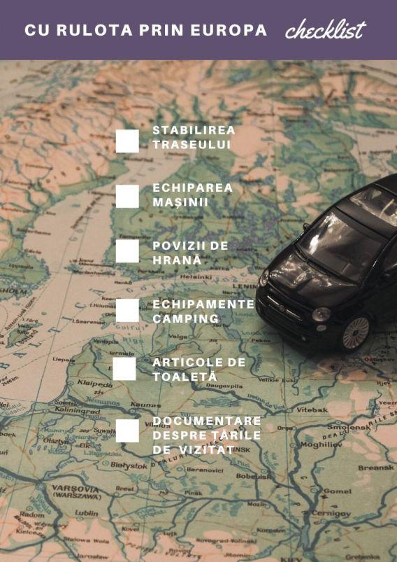 checklist Europa în rulotă